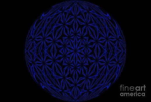 Bright Blue Orb by Annette Allman