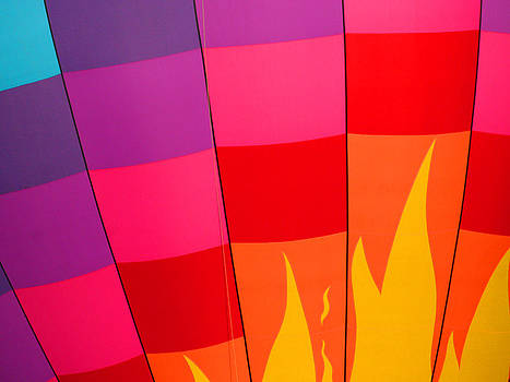 Bright Color Hot Air Balloon by Mason Resnick