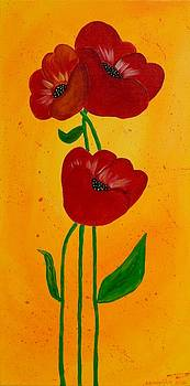 Bright Poppies by Annette Bingham