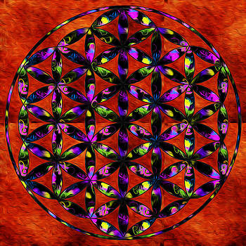 Brilliant Flower of life by Denise Teague