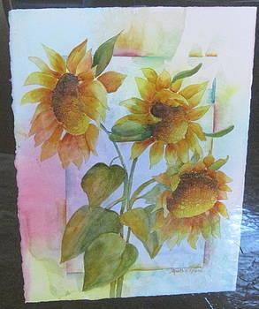 Brilliant Sunflowers by Martha Efurd