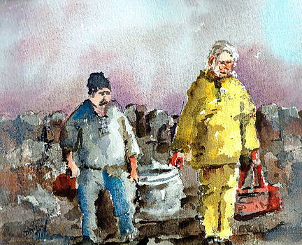 Val Byrne - Bringing home the catch