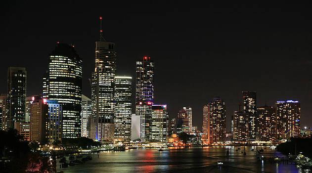 Brisbane by Night by Carl Koenig