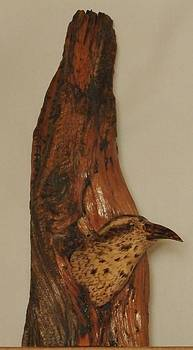 Bristlecone Pine and Bird by Russell Ellingsworth