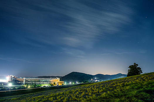 Bristol Motor Speedway by Moonlight by Greg  Booher