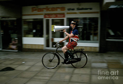 British eccentric on bicycle. by David Davies