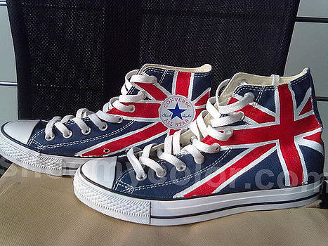 British flag shoes by Amy