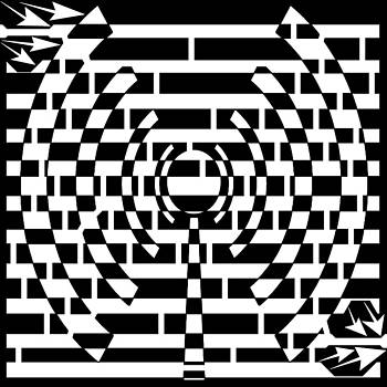 Broadcasting Maze by Yonatan Frimer Maze Artist