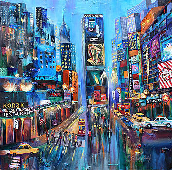 Broadway on my way. by Helene Khoury Nassif