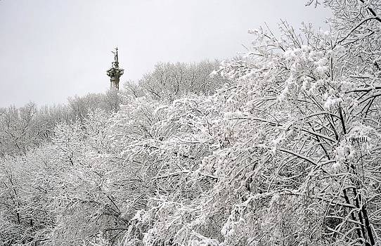 Brock's Monument Lost in the Snow by Steve Chiarelli