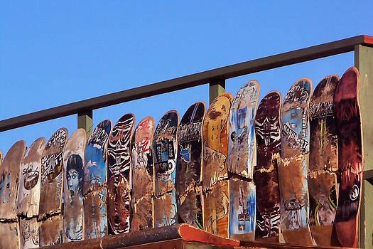 Art Block Collections - Broken Skateboard Fence