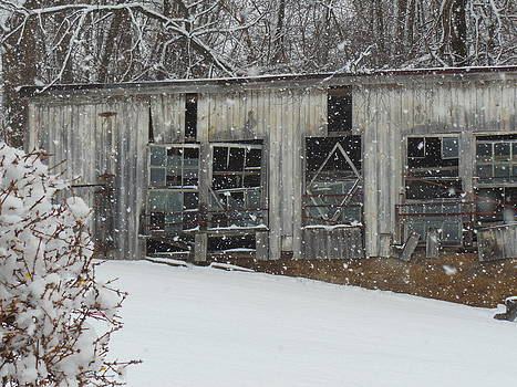 Broken Windows In The Snow by Sharon Costa