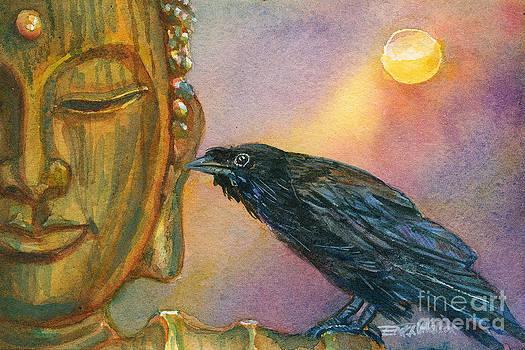 Bronze Buddha Crow by Erika Nelson
