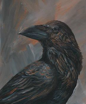 Bronze Raven by Christine StPierre