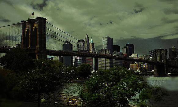 Brooklyn Bridge from Dumbo by Donna Betancourt