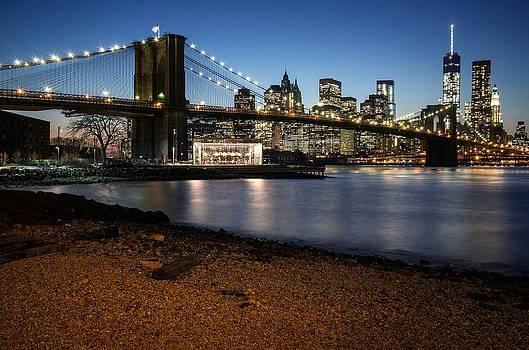 Brooklyn Bridge View by Daniel Portalatin Photography