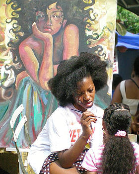 Brooklyn Face Painter by Tom Romeo