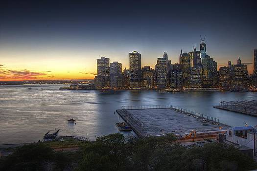 Brooklyn Heights Sunset by C W Edwards