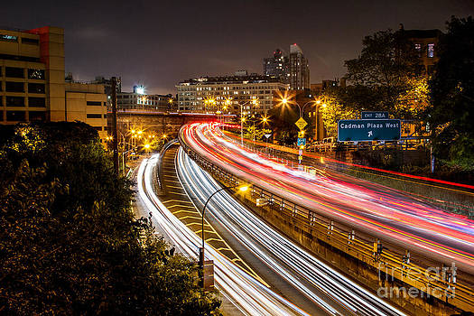Brooklyn-Queens Expressway @ Night by Daniel Portalatin Photography