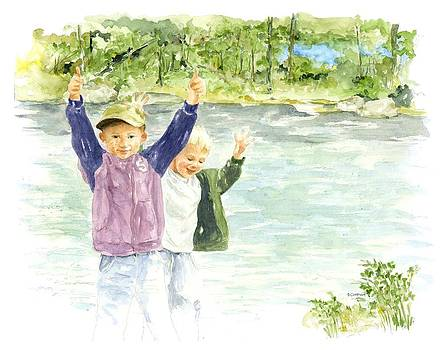 Brothers on the Hudson by Deborah Carman