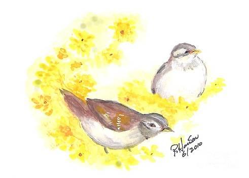 Brown Birds by Ruthann  Hanson