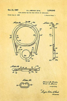 Ian Monk - Brown Can Ring Pull Patent Art  3 1967