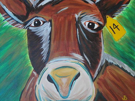 Brown Cow #14 by Jeannette Brown