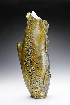 Brown Trout Vessel by Mark Chuck