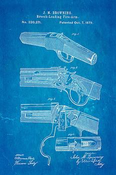 Ian Monk - Browning Breech Loader Patent Art 1879 Blueprint