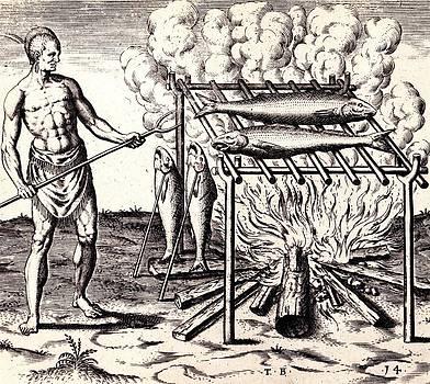 Peter Gumaer Ogden - Broylinge Their Fish Over the Flame