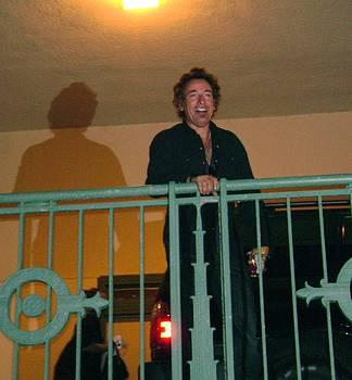 Bruce Springsteen on the balcony by Melinda Saminski