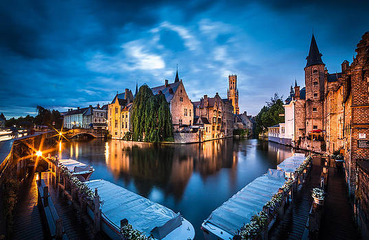 Bruges night by Stefano Termanini