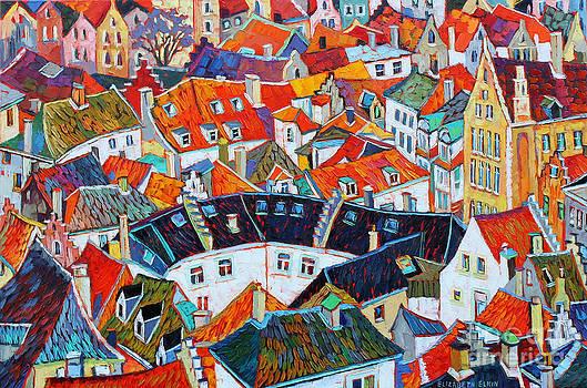 Bruges Rooftops by Elizabeth Elkin