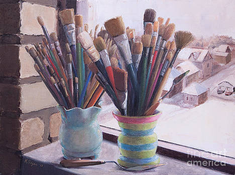 Brushes Bouquet by Katherine Seger