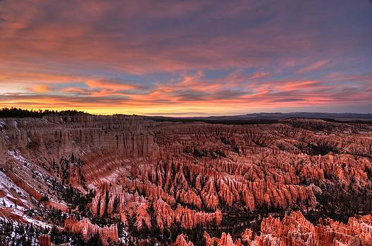 Bryce Sunset by Thomas Nighswander