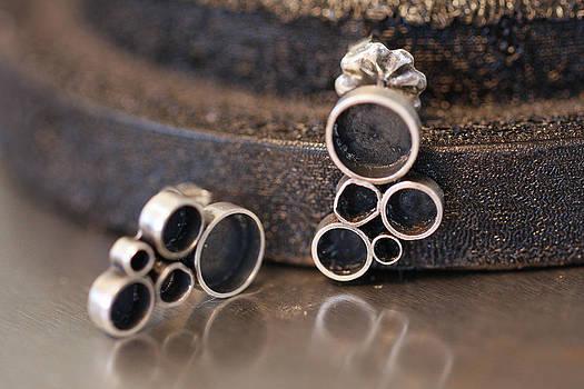 Bubbles  earrings by Kelly Clower