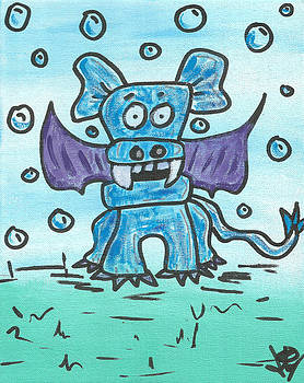 Bubbles the PupBatDragon by Jera Sky