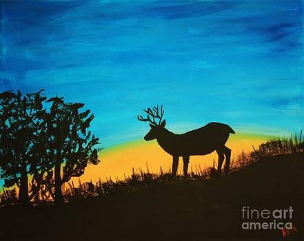 Buck at Sunset by Ashley Van Artsdalen