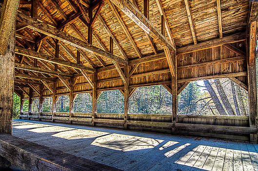 Buck River Road Covered Bridge by Everett Leigh