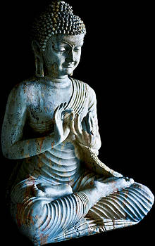 Vintage Blue Buddha by Ioana Todor