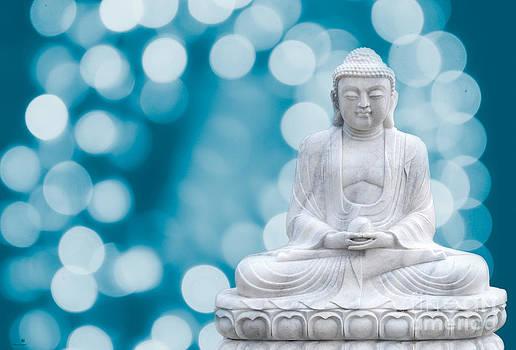 Hannes Cmarits - buddha enlightenment blue