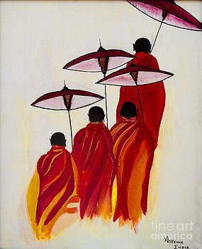 Buddha Monks by Rekha Artz