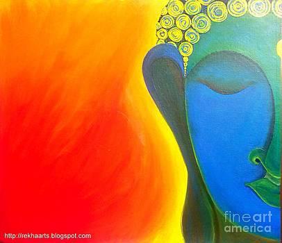 Buddha Painting by Rekha Artz