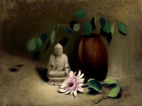 Buddha Under the Bodhi Tree. by Christy Olsen