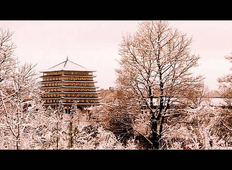 Buddhist Temple Niagara II by Sherrie Robins