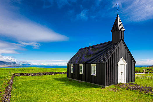 Budir black church West Iceland Europe by Matthias Hauser