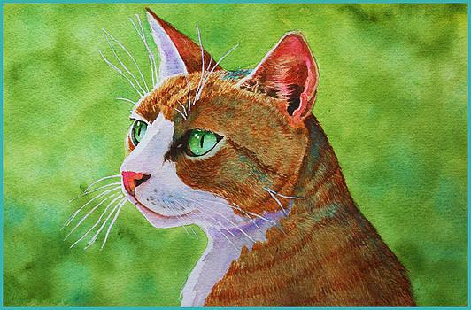 Bueller Tabby Cat by Rachel Armington