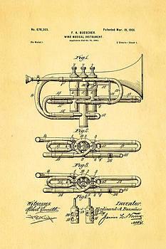 Ian Monk - Buescher Epoch Cornet Wind Instrument Patent Art 1901