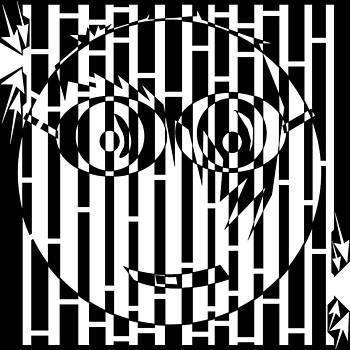 Bug Eyed Long Bangs Maze  by Yonatan Frimer Maze Artist