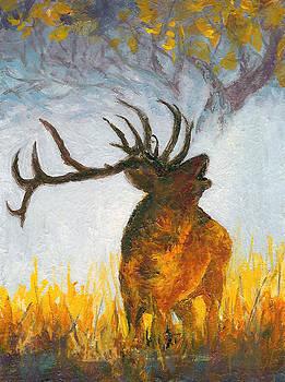Bugling Elk by Karen Mattson